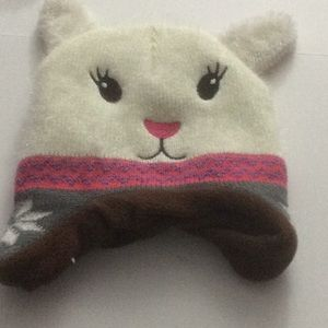NWOT Bunny Hat Youth White and Pink